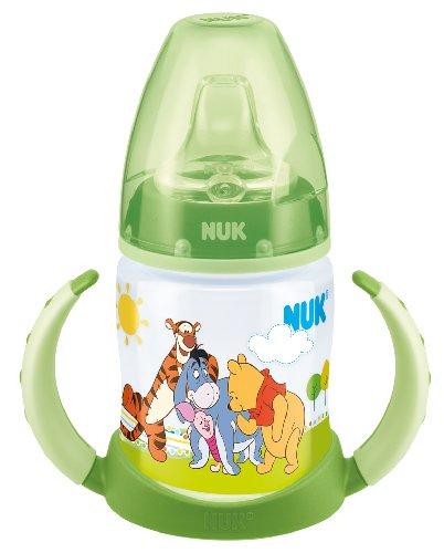 NUK 10215150 First Choice Trinklern-Flasche Disney Winnie aus PP 150ml, mit Soft-Trinktülle aus Silikon ab 6 Monate, auslaufsicher, BPA frei, grün