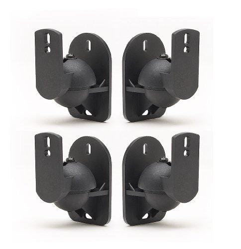 4 Pack Schwarze Universal-Wandhalterungen für Lautsprecher