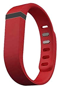 Replacement Wrist Band for Fitbit Flex (Deep Red, Large)