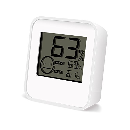 Bengoo Indoor Humidity Monitor Meter Digital Thermometer Hygrometer with LCD Display - White (Appliance Accessories compare prices)