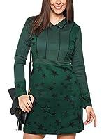 ZZ_HHG Vestido (Verde / Negro)