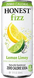 Honest Fizz Soda Zero Calorie, Lemon Limey, 12 Oz (Pack of 24)