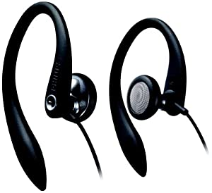 Philips SHS 3200 Kopfhörer (flexible 3D Ohrbügel, ideal für Sport) schwarz