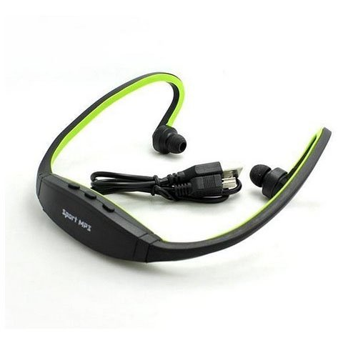 Huntgold Wireless Earphones Headphones Sports Mp3 Music Player For Gym Running Jogging(Green)