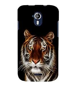 printtech Tiger Face Streak Design Back Case Cover for Micromax Canvas Magnus A117