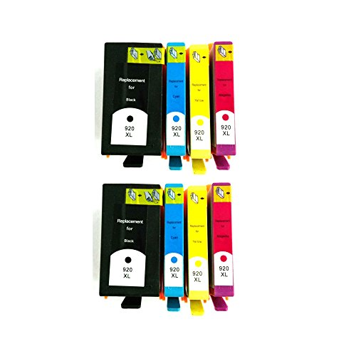 Hp 920Xl(Black/Cyan/Magenta/Yellow) Ink Cartridge For Hp Officejet 6500 Wireless Printer - Pack Of 2 Sets - Premium Bavvo® Remanufactured Product