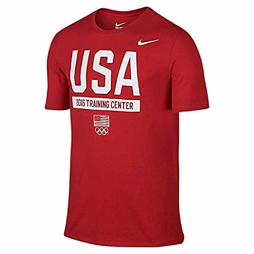 Nike Mens Team USA Dri-Fit Athletic T-Shirt 801198 (Large, Sport Red/White)
