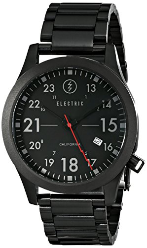 Electric Men'S Ew0010010005 Fw01 Stainless Steel Band Analog Display Japanese Quartz Black Watch