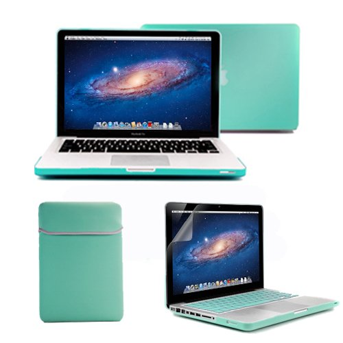Lowest Prices! GMYLE(R) 4 in 1 Robin Egg Blue Turquoise Rubberized (Rubber Coated) Hard Case Cover f...