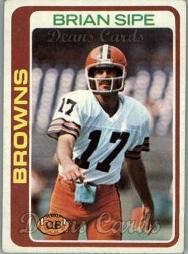 1978 Topps # 53 Brian Sipe Cleveland Browns-FB (Football Card) Dean's Cards 6 - EX/MT