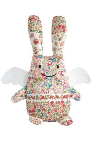 trousselier-v1081-98-rabbit-angel-soft-toy-flowers-18-cm-red