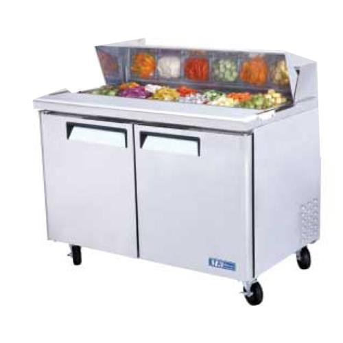 """Turbo Air-M3 Mst-48 M3 Series 48"""" Two Door Refrigerated Sandwich Prep Table front-632229"""