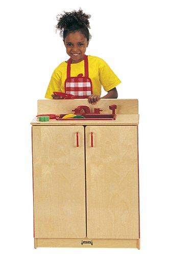 Jonti-Craft School Age Pretend Preschool Daycare Kids Wooden Toy Kitchen Sink Cabinet Play Set Birch