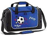 Sporttasche mit Namen und Wunschmotiv Fußballtasche Fitness...