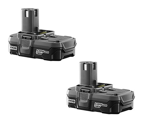 Ryobi (2 Pack) P102 One+ Lithium Ion 18 Volt Compact Batteries (Bulk Packaged)