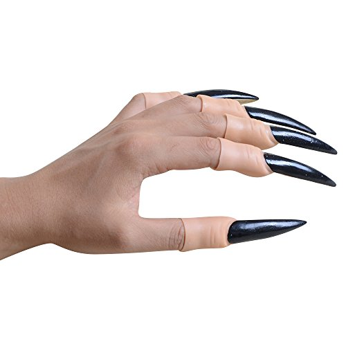 Chichic Halloween Props Witch Long Fake Nails, Zombie Vampire Ghost Devil Finger Nails, Halloween Accessory, Halloween Costume, Halloween Decoration, Best for Party, 2 Pack, 20 (Halloween Witch Nails)
