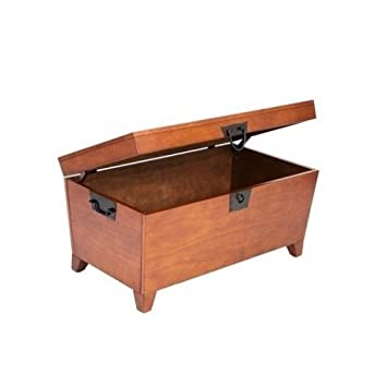 Trunk Coffee Table with Lift-top in Mission Oak, Creates Function & Beauty with a Solid Wood Design Guaranteed Our Coffee Chest with Its Ample Storage Will Make a Great Addition to Any Living Room Furniture Set Superior Wood Construction Promises Long