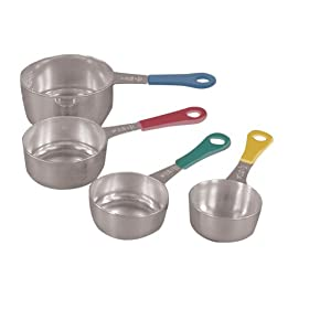 Fox Run Set of Four Stainless Steel Measuring Cups with Colored Handles