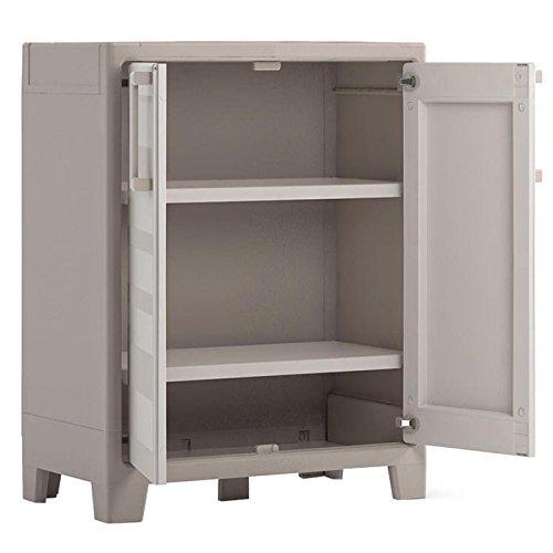 Kis 9752000 armadietto in plastica da esterno impermeabile beige - Cassapanca plastica da esterno ...