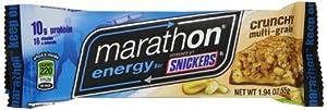Marathon Bars Multigrain Crunch Singles,  1.94oz Bars(Pack of 12)