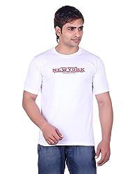 Martin Smith White Round Neck T- Shirt For Men