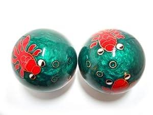 "Goldfish Baoding Balls Green - Chinese Health Stress Exercise Balls (52mm (2.05""))"