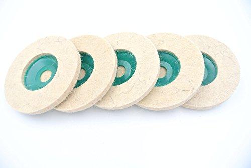 ピッカピカ 鏡面 のように 研磨 仕上げ 加工 汎用 粗目 フェルトバフ セット ディスク サンダー グラインダー (5個)