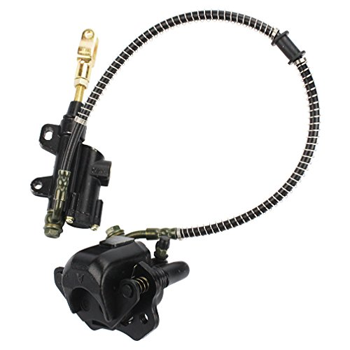 GOOFIT Rear Brake Master Cylinder Caliper Assembly for 50cc 70cc 90cc 110cc 125cc Chinese ATV Quad Scooter (Ssr 125 Rear Brake Assembly compare prices)