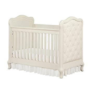 Bertini Tinsley 3-in-1 Upholstered Crib - Antique White
