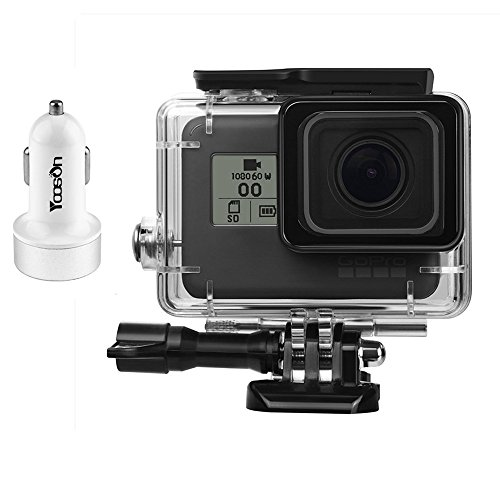 GoPro-Hero-5-Housing-Case21-A-Car-ChargerProtective-Waterproof-Dive-Housing-CaseUnderwater-45m