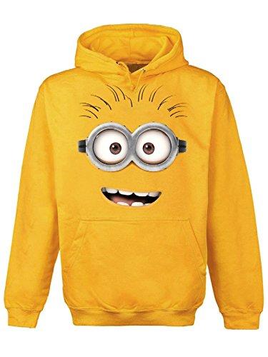 Minions Dave Smile Felpa con cappuccio giallo XXL