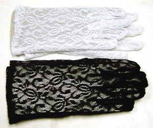 Gloves Lace White Accessory