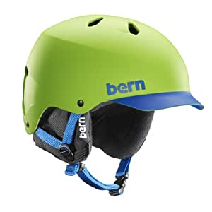 Bern Men's Watts EPS Brim with Black Liner Helmet - Green/Blue, XX-Large/XXX-Large