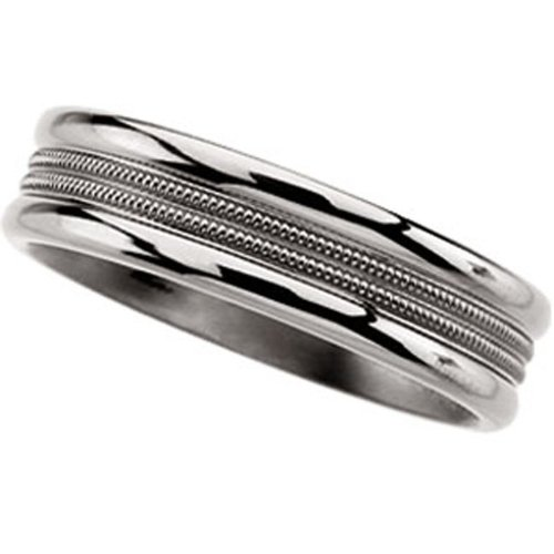 Titanium, Engraved Wedding Band (sz 13)