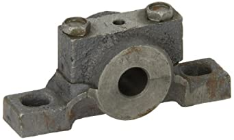 "Boston Gear PPB6 Pillow Block Housing, Light Duty, 2 Bolt Holes, 0.375"" Bore Diameter, Cast Iron, Inch"