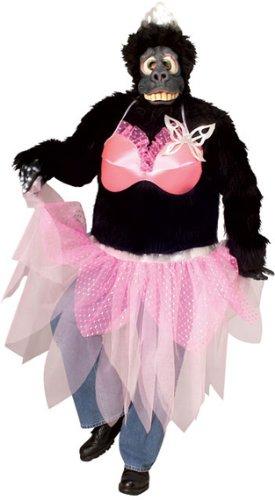 Gorilla Pink Ballerina Funny Adult Mens Halloween
