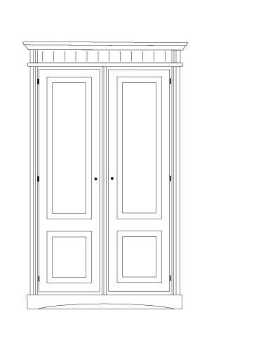 aduh pusink gradel lara schrank mit 1 einlegeboden und 1 kleiderstange zerlegbar in fichte. Black Bedroom Furniture Sets. Home Design Ideas