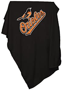 MLB Baltimore Orioles Sweatshirt Tackle Twill Blanket by Logo