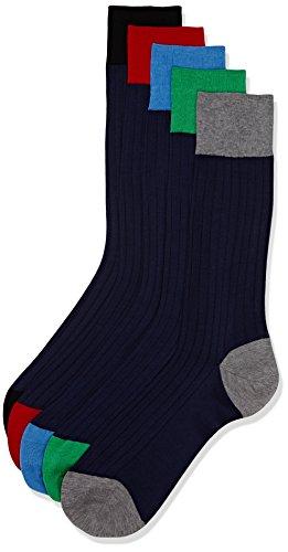 hackett-london-herren-fusslinge-5pk-week-socks-blue-navy-medium-large