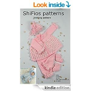 Knitting Pattern - KP54 - baby boy girl matinee jacket, hat and