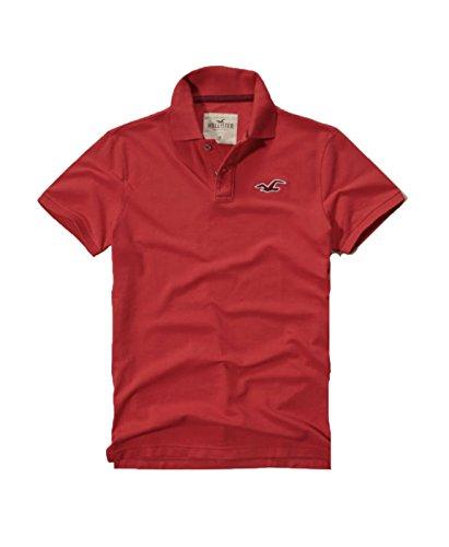 hollister-mens-polo-shirt-t-shirt-m-red