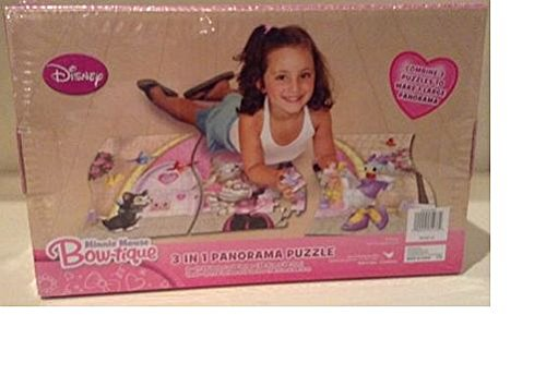 Disney Minnie Mouse Bow-Tique 3 in 1 Panoramic Puzzle - 1