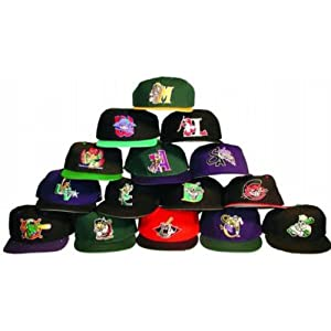 Minor League Fitted Baseball Hat Mix (36 Pieces) by DDI