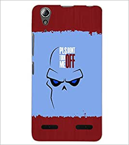 PrintDhaba Quote D-5106 Back Case Cover for LENOVO A6000 (Multi-Coloured)