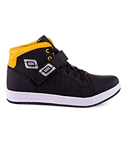 Black Money Essence Yellow Black Velcro Casual Shoe
