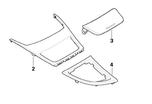 BMW Performance Genuine Ashtray Finisher/Cover Carbon (51 16 0 442 909)
