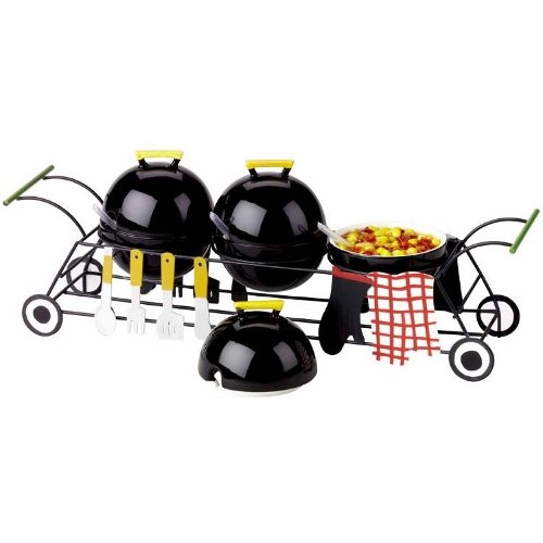 Boston Warehouse Condiment Serving Set With Picnic Party Design