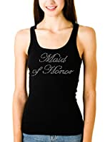 Maid of Honor Tank on Extra-Long Black Tank Top by Bella
