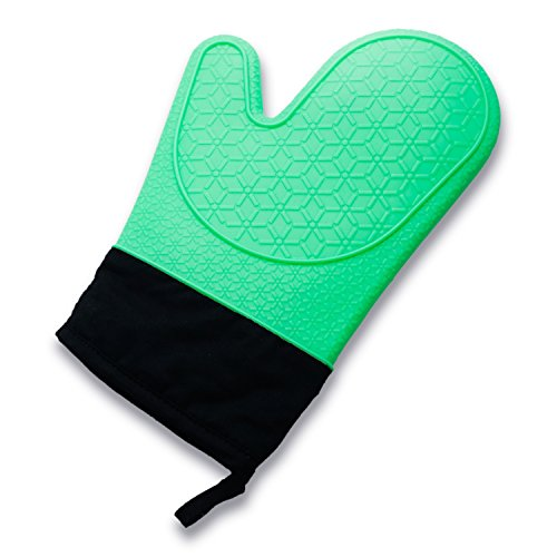 Zodaca Silicone Grilling Cooking Oven Mitts Gloves Max Heat Resistant 11.6