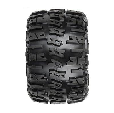 "Proline 118411 Trencher 3.8"" All Terrain Tire Mounted on Desperado Black Wheels"